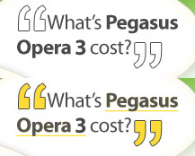 How much does Pegasus Opera 3 Accounts Software cost