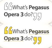 What does Pegasus Opera 3 Accounts Software do?
