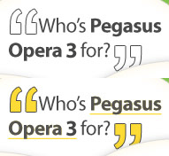 Who is Pegasus Opera 3 Accounts Software For?
